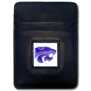 Kansas State Leather Money Clip (F)