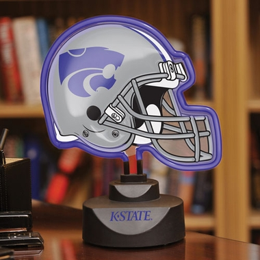 Kansas State Neon Display Helmet