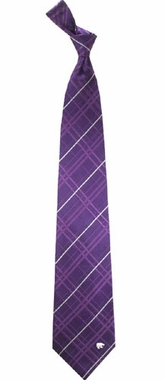 Kansas State Oxford Stripe Woven Silk Necktie