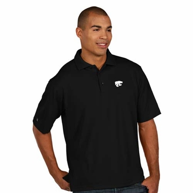 Kansas State Mens Pique Xtra Lite Polo Shirt (Alternate Color: Black)