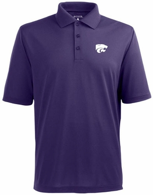 Kansas State Mens Pique Xtra Lite Polo Shirt (Color: Purple)