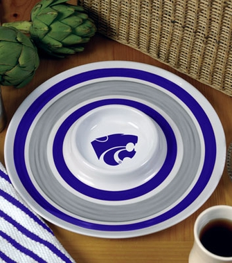 Kansas State Plastic Chip and Dip Plate