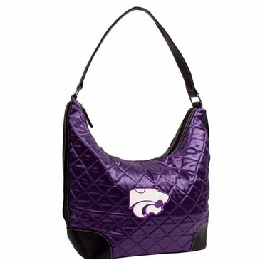 Kansas State Quilted Hobo Purse