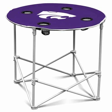 Kansas State Round Tailgate Table