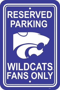 Kansas State Plastic Parking Sign (P)