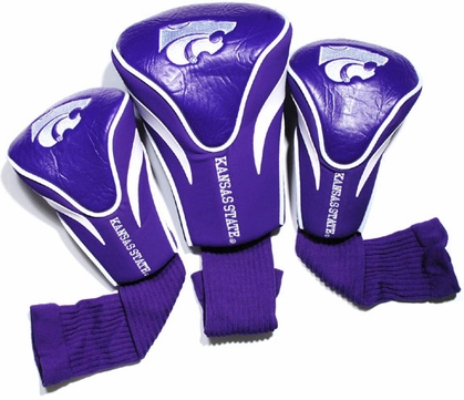 Kansas State Set of Three Contour Headcovers
