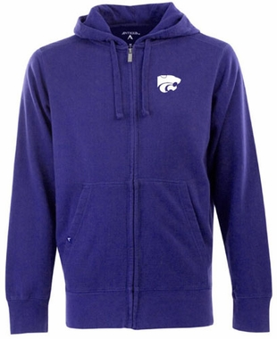 Kansas State Mens Signature Full Zip Hooded Sweatshirt (Color: Purple)