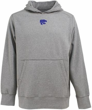 Kansas State Mens Signature Hooded Sweatshirt (Color: Gray)