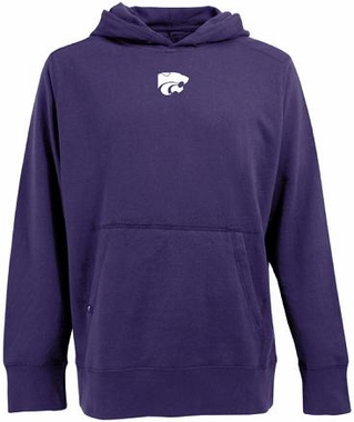 Kansas State Mens Signature Hooded Sweatshirt (Color: Purple)