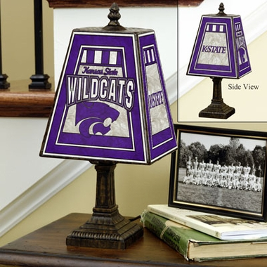 Kansas State Small Art Glass Lamp