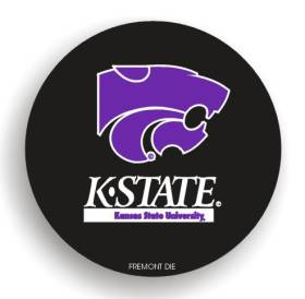 Kansas State Wildcats Black Tire Cover - Standard Size