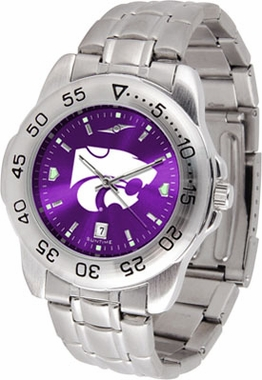 Kansas State Sport Anonized Men's Steel Band Watch