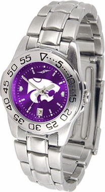 Kansas State Sport Anonized Women's Steel Band Watch