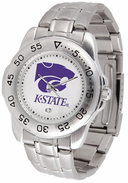 Kansas State Sport Men's Steel Band Watch