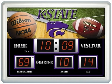 Kansas State Time / Date / Temp. Scoreboard