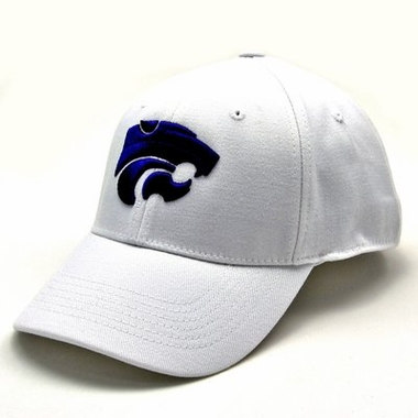 Kansas State White Premium FlexFit Baseball Hat