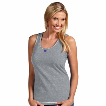 Kansas State Womens Sport Tank Top (Color: Gray)