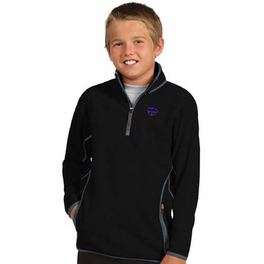 Kansas State YOUTH Unisex Ice Polar Fleece Pullover (Team Color: Black)
