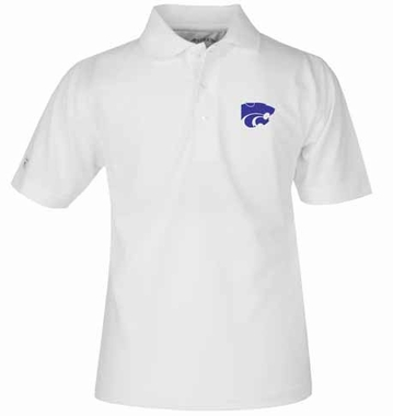 Kansas State YOUTH Unisex Pique Polo Shirt (Color: White)