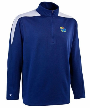 Kansas Mens Succeed 1/4 Zip Performance Pullover (Team Color: Royal)