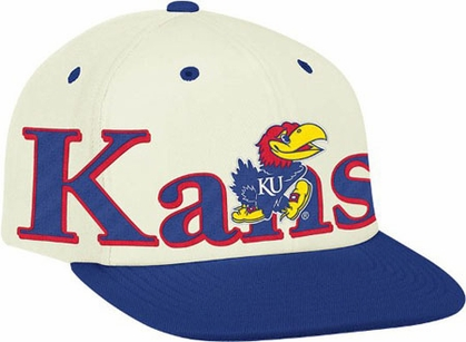 Kansas Team Name and Logo Snapback Hat