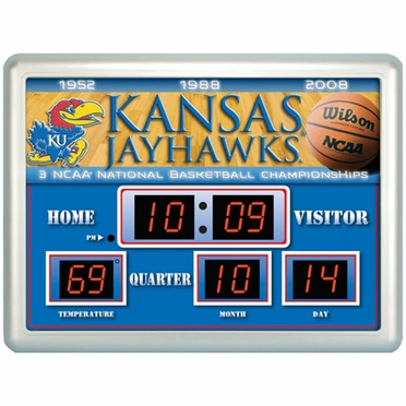 Kansas Time / Date / Temp. Scoreboard