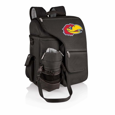 Kansas Turismo Embroidered Backpack (Black)