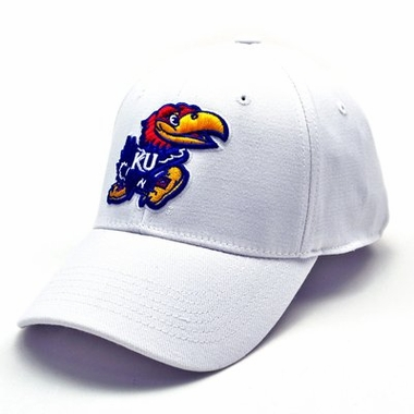 Kansas White Premium FlexFit Hat