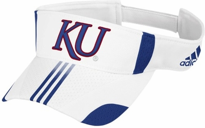 Kansas White Sideline Player Visor