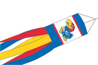 "Kansas Jayhawks 57"" Windsock"