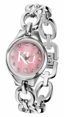 Kansas Women's Eclipse Mother of Pearl Watch