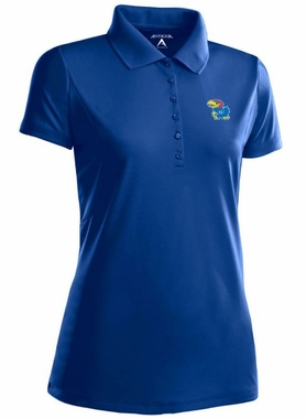 Kansas Womens Pique Xtra Lite Polo Shirt (Team Color: Royal)