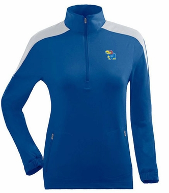 Kansas Womens Succeed 1/4 Zip Performance Pullover (Team Color: Royal)
