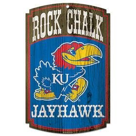 Kansas Jayhawks Wood Sign