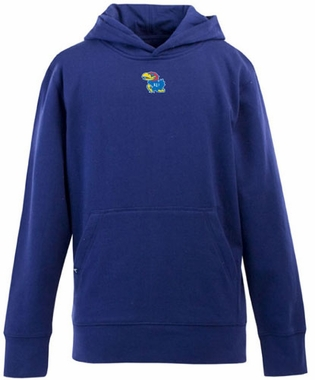 Kansas YOUTH Boys Signature Hooded Sweatshirt (Team Color: Royal)