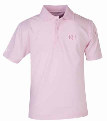 Kansas YOUTH Unisex Pique Polo Shirt (Color: Pink)