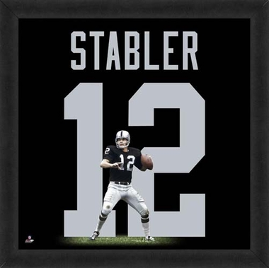 "Ken Stabler, Raiders UNIFRAME 20"" x 20"""