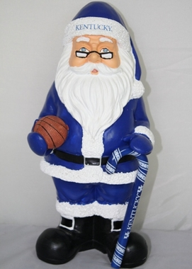 Kentucky 11 Inch Resin Team Santa Figurine