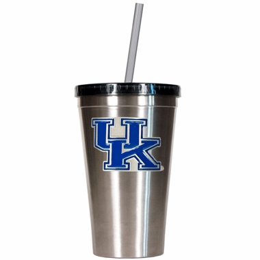 Kentucky 16oz Stainless Steel Insulated Tumbler with Straw