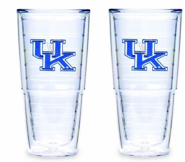 "Kentucky 24 Set of TWO 24 oz. ""Big T"" Tervis Tumblers"
