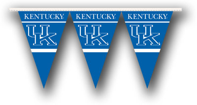 Kentucky 25 Foot String of Party Pennants (P)