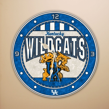 Kentucky Art Glass Clock