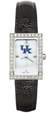 Kentucky Black Leather Strap Allure Watch