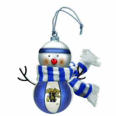 Kentucky Blown Glass Snowman Ornament (Set of 2)