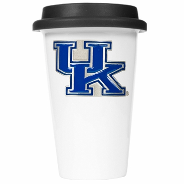 Kentucky Ceramic Travel Cup (Black Lid)