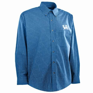 Kentucky Mens Esteem Button Down Dress Shirt (Team Color: Royal)