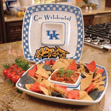 Kentucky Gameday Ceramic Chip and Dip Platter