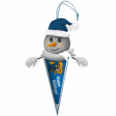 Kentucky Light Up Snowman Pennant Ornament (Set of 2)
