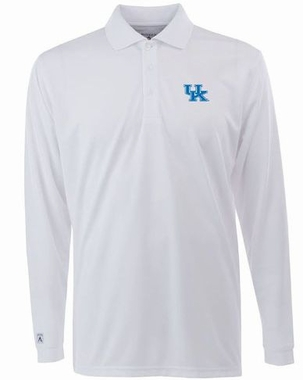 Kentucky Mens Long Sleeve Polo Shirt (Color: White)