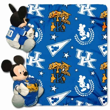 Kentucky Mickey Mouse Pillow / Throw Combo